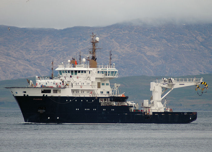 Pharos pictured arriving at Oban on 6th May 2010