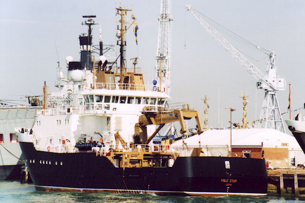 Pole Star pictured in Portsmouth on 24th August 2001