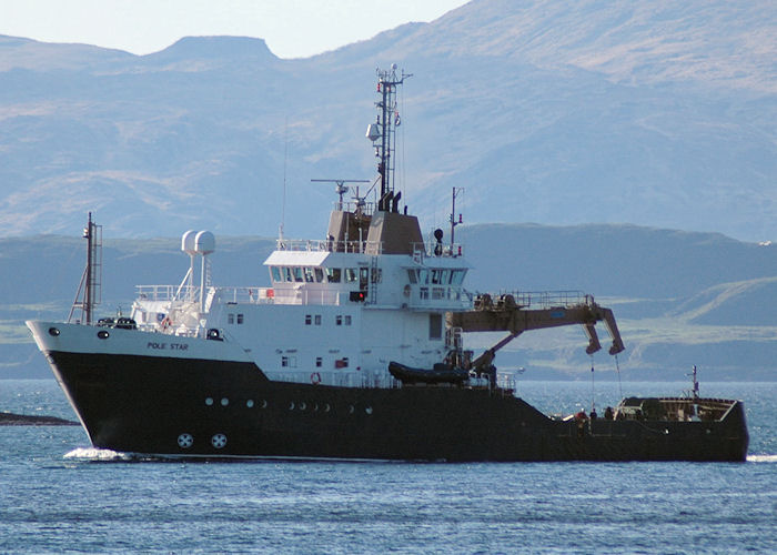 Pole Star pictured arriving at Oban on 6th May 2010