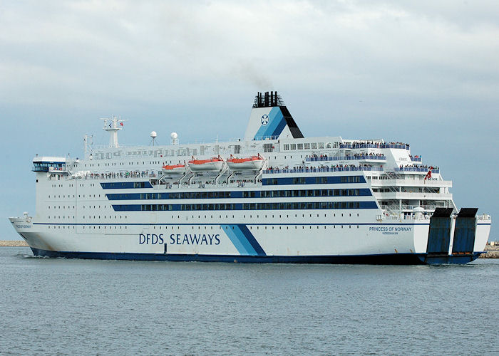 Princess of Norway pictured departing the River Tyne on 9th August 2010