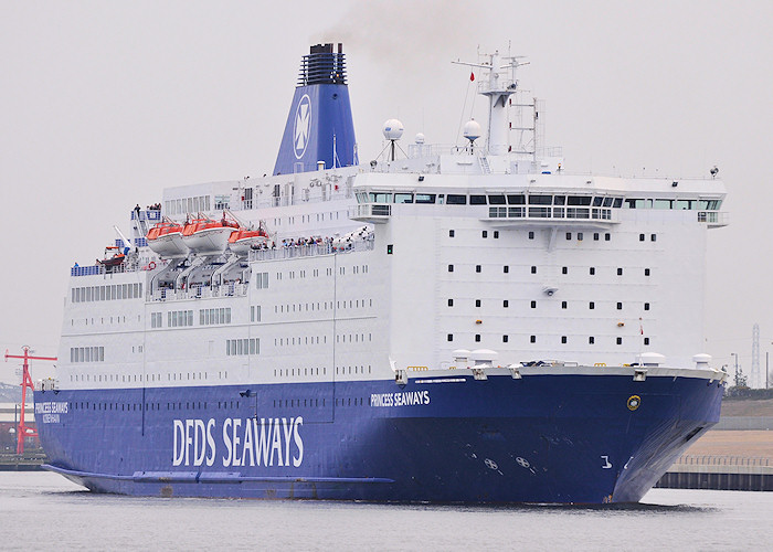Princess Seaways pictured departing North Shields on 3rd June 2011