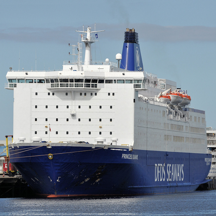 Princess Seaways pictured at North Shields on 26th August 2012