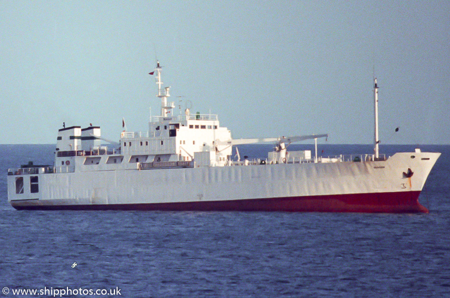Quasar pictured in Falmouth Bay on 26th July 1989