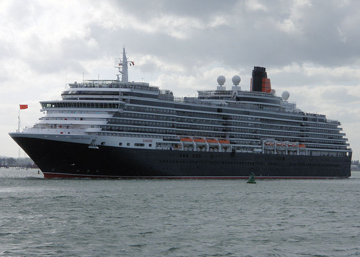 Queen Victoria pictured departing Southampton on 22nd June 2008