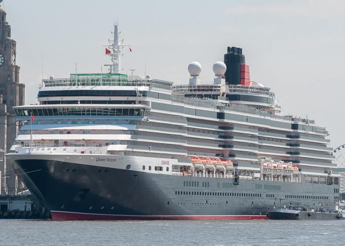 Queen Victoria pictured at Liverpool on 31st May 2014