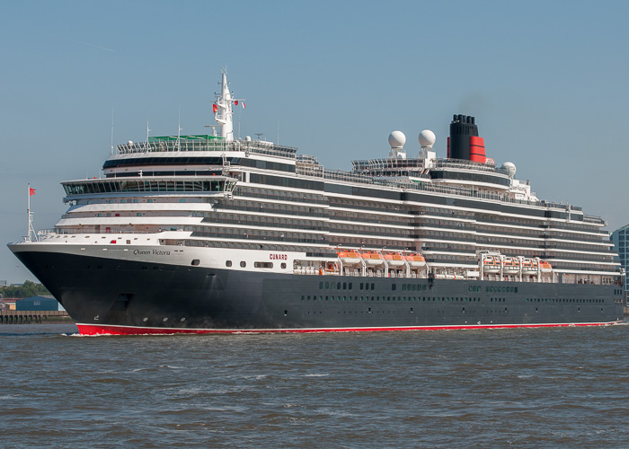 Queen Victoria pictured departing Liverpool on 31st May 2014