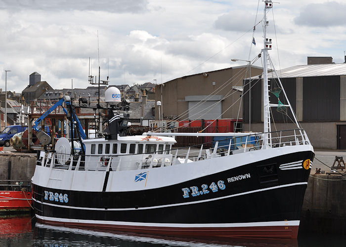 Renown pictured at Macduff on 6th May 2013