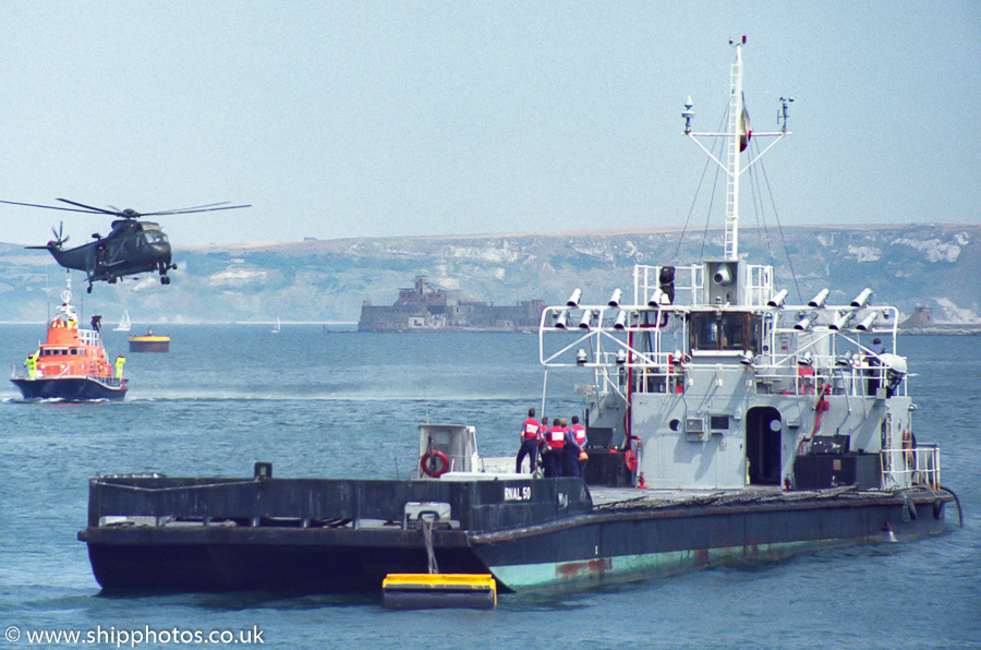 RNAL 50 pictured in Portland Harbour on 23rd July 1989