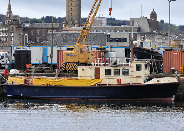 Rover pictured in Victoria Harbour, Greenock on 6th April 2012