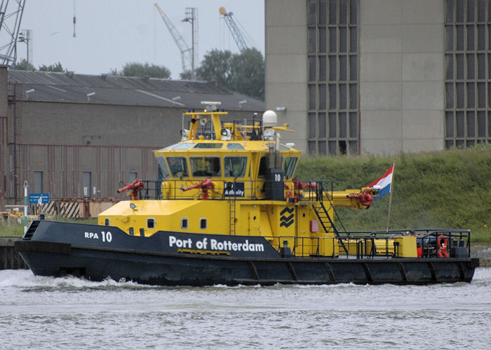RPA 10 pictured on the Nieuwe Maas, Rotterdam on 20th June 2010
