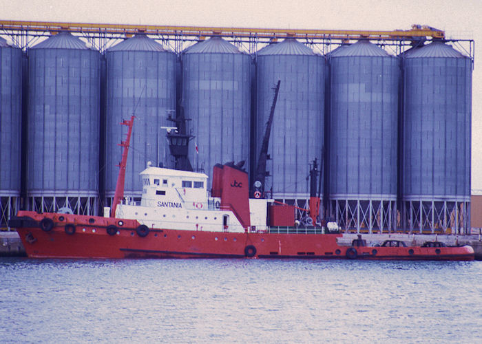 Santania pictured at Southampton on 18th August 1990