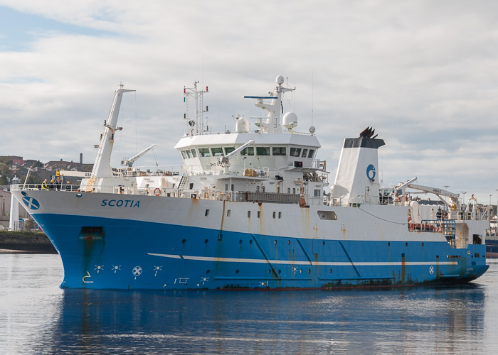 Scotia pictured departing Aberdeen on 11th October 2014