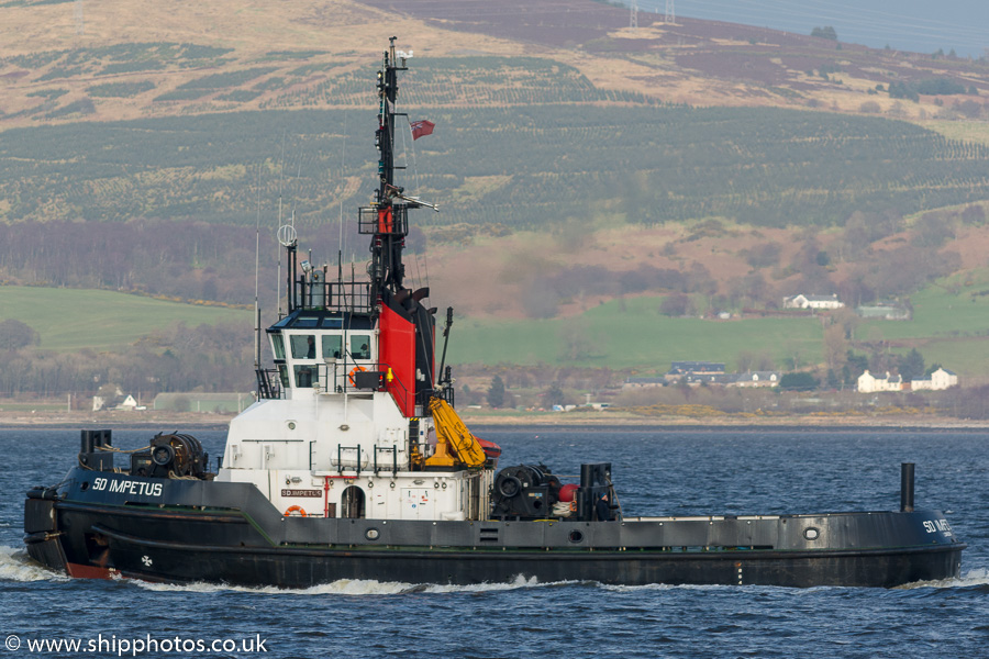 SD Impetus pictured passing Greenock on 23rd March 2017