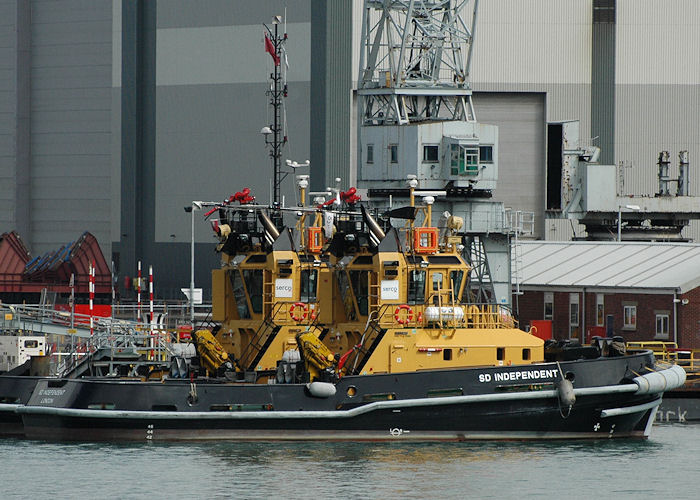 SD Independent pictured in Portsmouth Naval Base on 14th August 2010