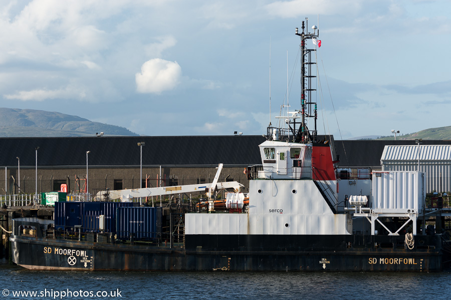 SD Moorfowl pictured at the Great Harbour, Greenock on 5th June 2015