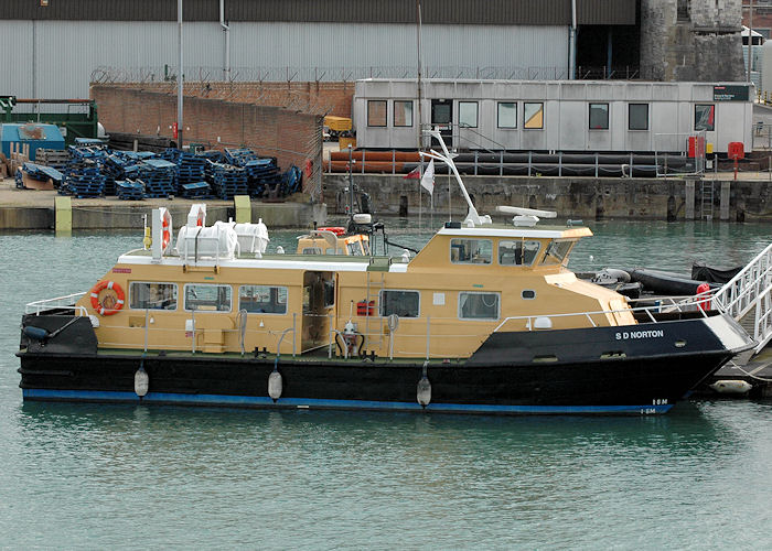 SD Norton pictured in Portsmouth Naval Base on 14th August 2010
