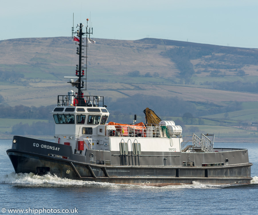SD Oronsay pictured passing Greenock on 26th March 2017