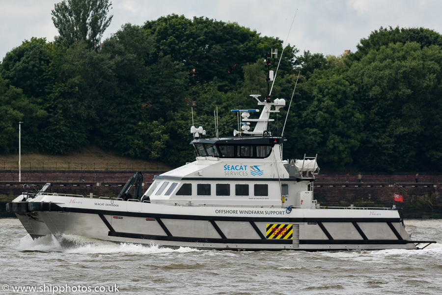 Seacat Defender pictured approaching Birkenhead on 25th June 2016
