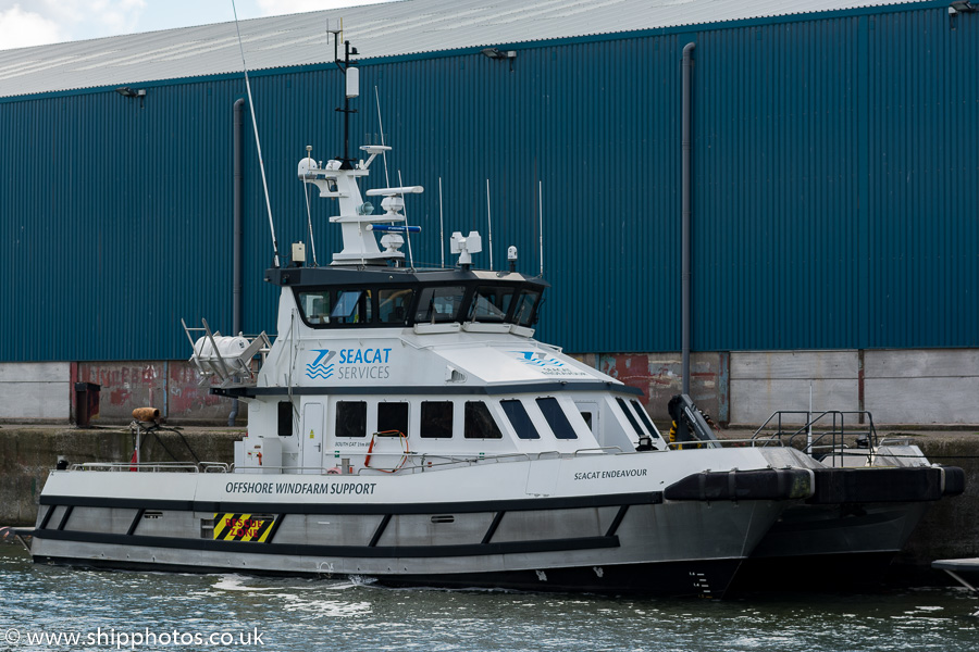 Seacat Endeavour pictured in Brocklebank Dock, Liverpool on 25th June 2016