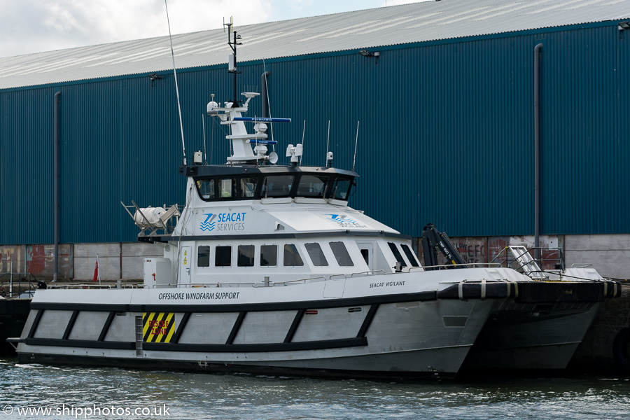 Seacat Vigilant pictured in Brocklebank Dock, Liverpool on 25th June 2016