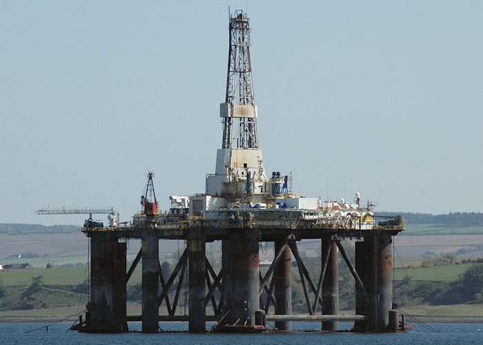 Sedco 712 pictured laid up in Cromarty Firth on 27th April 2011