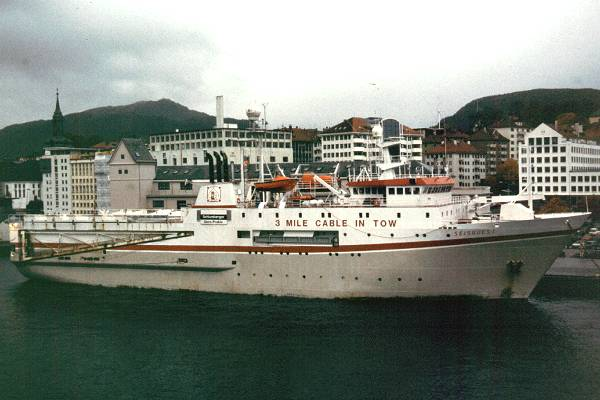 Seisquest pictured in Bergen on 26th October 1998