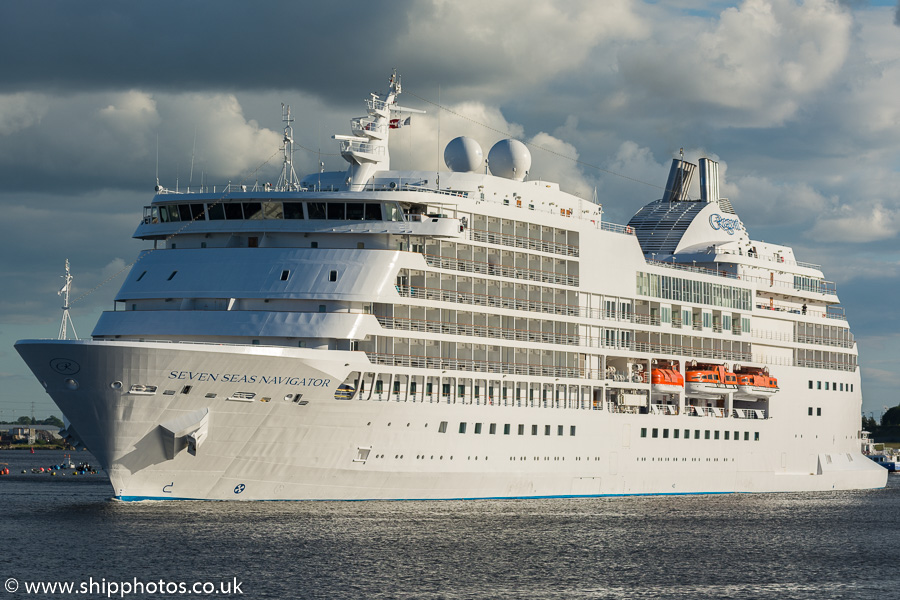 Seven Seas Navigator pictured passing North Shields on 20th June 2019
