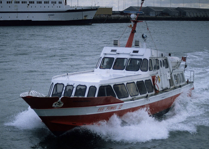 Shearwater 6 pictured arriving in Southampton on 23rd January 1994