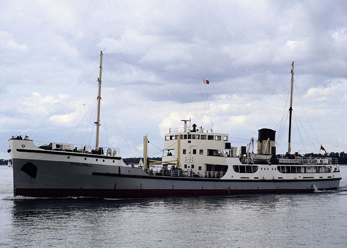 Shieldhall pictured in the Solent on 5th September 1992