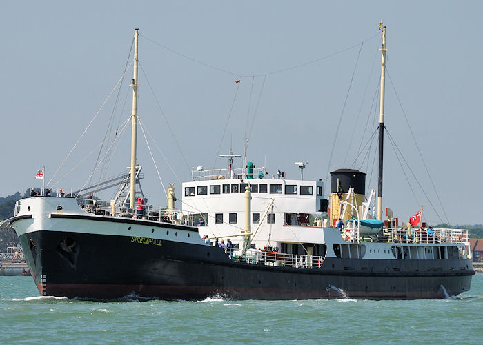 Shieldhall pictured on Southampton Water on 8th June 2013