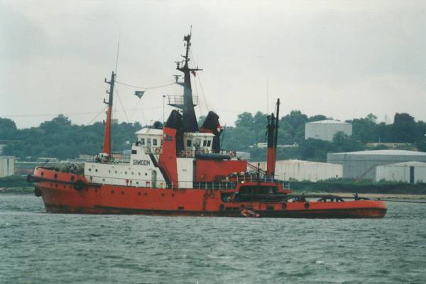 Simoon pictured in Southampton Water on 23rd May 1999