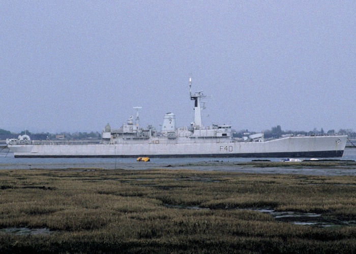 Sirius pictured laid up in Fareham Creek on 28th April 1995