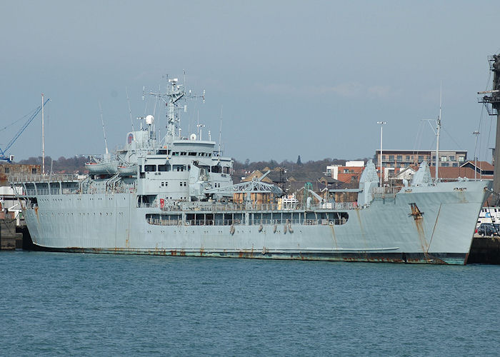 Sir Percivale pictured laid up at Marchwood Military Port on 13th June 2009