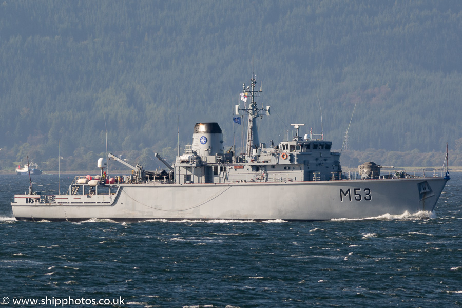 Skalvis pictured passing Gourock on 6th October 2016
