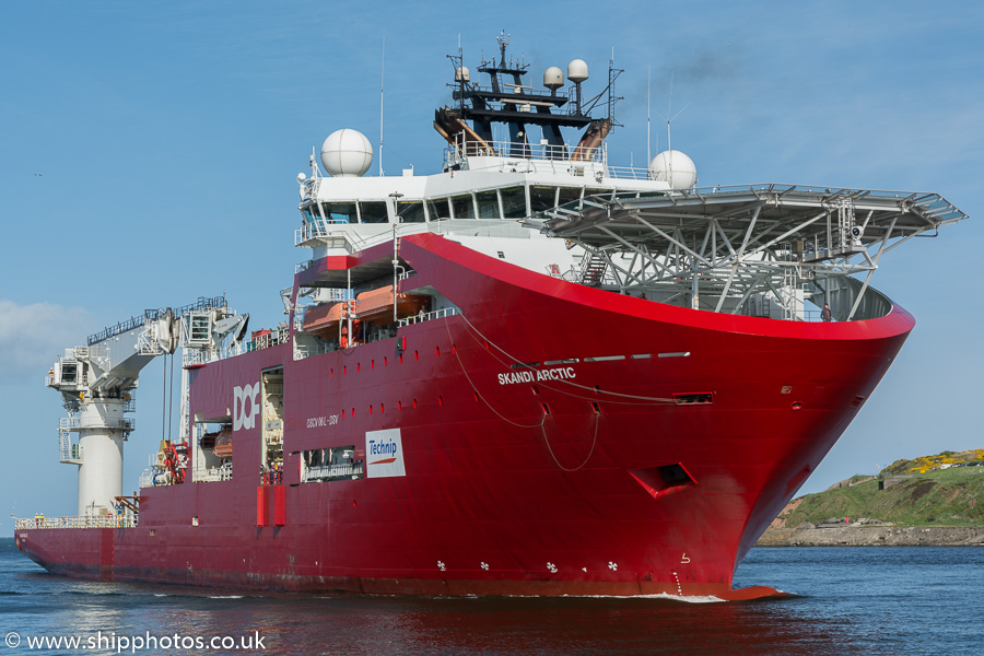 Skandi Arctic pictured arriving at Aberdeen on 22nd May 2015
