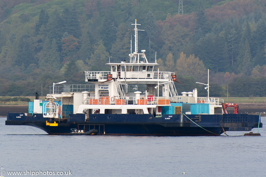 Sleat pictured in Holy Loch on 19th October 2015