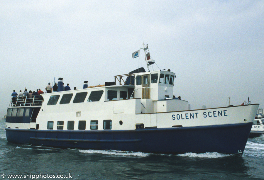 Solent Scene pictured in Portsmouth Harbour on 8th July 1989