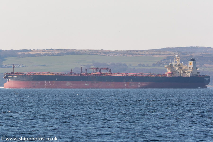 Sonangol Cabinda pictured on the River Clyde on 27th March 2017