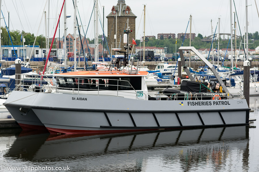 St. Aidan pictured at Royal Quays, North Shields on 29th May 2016