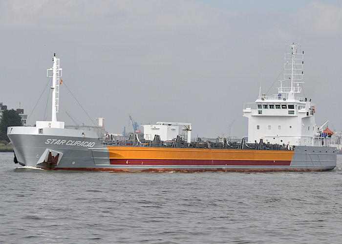 Star Curacao pictured passing Vlaardingen on 26th June 2011