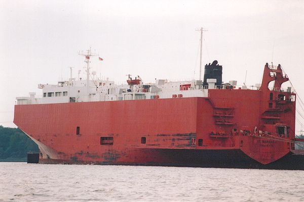 St. Barbara pictured in Southampton on 29th August 2001