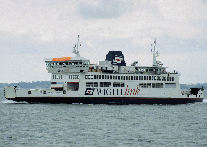 St. Catherine pictured approaching Portsmouth Harbour on 13th July 1997