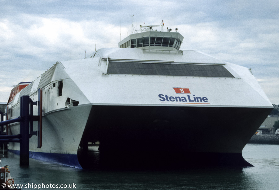Stena Explorer pictured at Holyhead on 31st August 1998