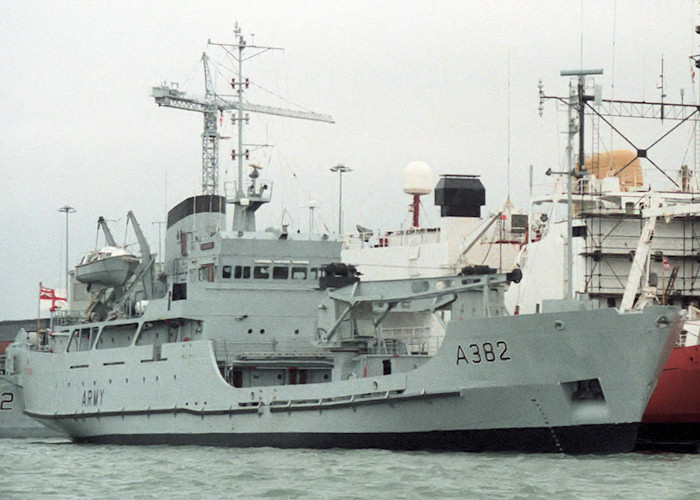 St. George pictured in Portsmouth Naval Base on 10th July 1988