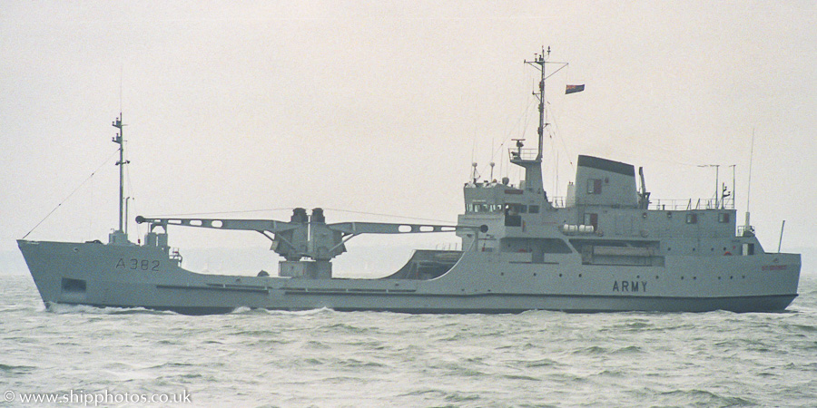 St. George pictured departing Portsmouth Naval Base on 10th July 1988