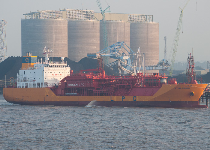 Stina Kosan pictured at Immingham on 18th July 2014