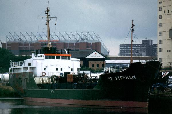 St. Stephen pictured in Salford Docks on 13th July 1999