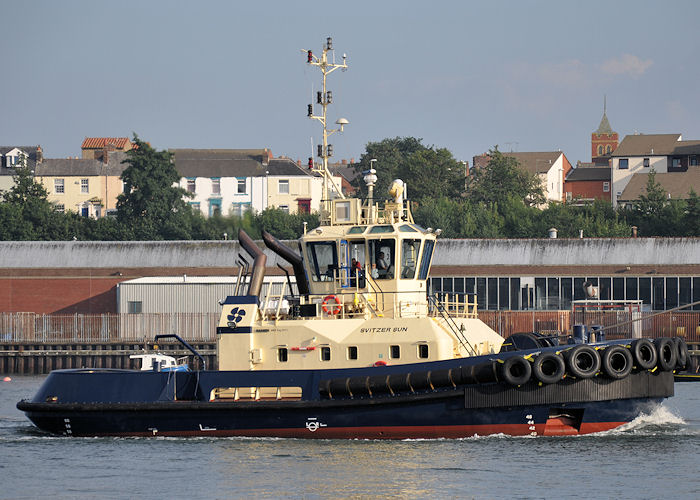Svitzer Sun pictured at North Shields on 22nd August 2013