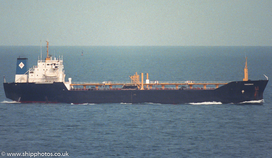 Tankerman pictured departing Portland Harbour on 27th July 1989