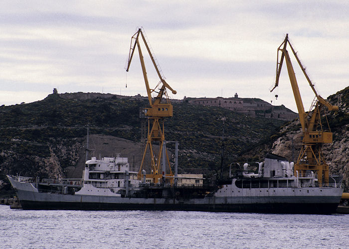 Teide pictured laid up at Cartagena on 25th March 1991